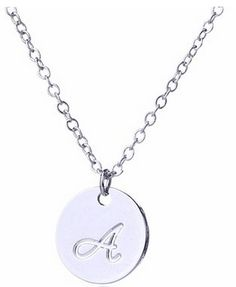 Small Script Initial Necklace