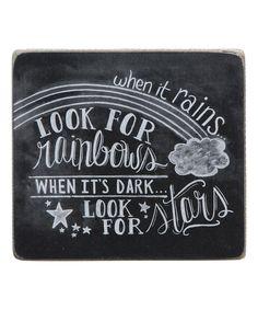 Look at this #zulilyfind! 'Look for Rainbows, Look for Stars' Box Sign #zulilyfinds