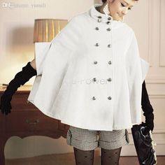Wholesale cheap jacket xs online, gender - Find best wholesale-fashion korean women woolen coat batwing wool casual poncho winter coat jacket double breasted loose cloak cape outwear b2# 41 at discount prices from Chinese wool & blends supplier - odelettu on DHgate.com.