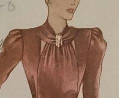 B38 Stop Traffic 1930s dress day to night super by StarletPatterns