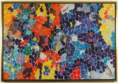 """ALMA'S FLOWER GARDEN"" By Alma Thomas Artwork Description Creation Date: 1970"