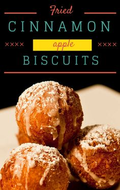 As the hosts of The Chew were talking about their favorite crispy foods, Carla Hall shared a recipe for Fried Cinnamon Apple Biscuits.