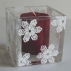 #DIY embossed candle holder