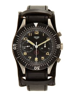Heuer Stainless-Steel Bundeswehr 3H Military Flyback Chronograph. Asking price: $4600
