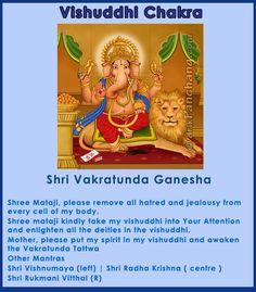 Throat Chakra - Shri Vakratunda Ganesha Sahaja Yoga Meditation, Chakra Meditation, Kundalini Yoga, Chakra Art, Chakra Healing, Muladhara Chakra, Shri Mataji, Gayatri Mantra, Healing Codes