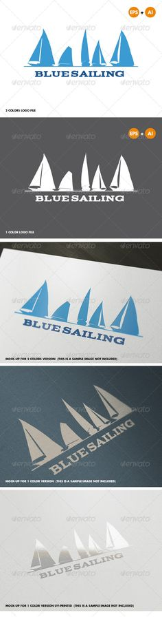 Blue Sailing Logo Template #GraphicRiver Bluesailing Logo can be used in shops and sportswear, sports clubs, and sporting goods brand, sailing school, yacht or cruise crew, among other similar uses. The design is very simple and can be configured easily. • Fully vector • Easy to edit text with FREE font (link included in help file) • 1 color and 2 colors version AI and EPS files Should you need any further assistance, don't hesitate to contact me! Please take a moment to rate this item (…