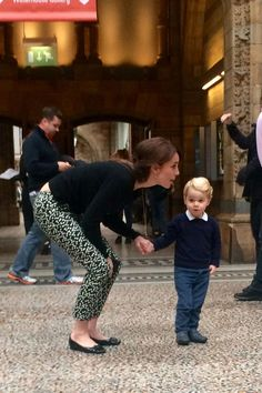 Prince George and Kate Middleton at Museum