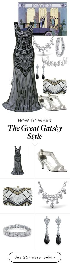 """gatsby gala"" by melannf on Polyvore featuring Miss Selfridge, Bling Jewelry, GALA and Easy Street 20s Fashion, Formal Fashion, Womens Fashion, Dress Outfits, Prom Dresses, Formal Dresses, Office Dresses, Polyvore Outfits, Bling Jewelry"