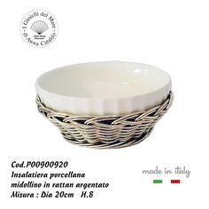 Porcellana da forno & rattan