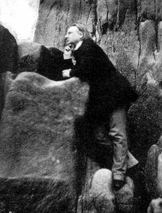 Victor Hugo among the Rocks on Jersey, Charles Hugo (1853-55)