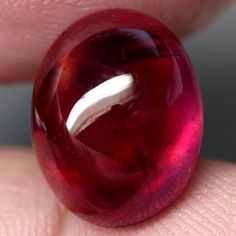 14.74CT.RAVISHING! OVAL CAB TOP BLOOD RED NATURAL RUBY MADAGASCAR NR! #GEMNATURAL