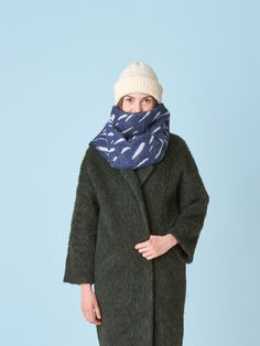 Tuisku means blizzard in Finnish language. Size: One size - x Color: Dark blue with reversible pattern Material: merino wool & pure new wool Wool Scarf, Merino Wool, Dark Blue, Pure Products, Pattern, Color, Fashion, Moda, Deep Blue