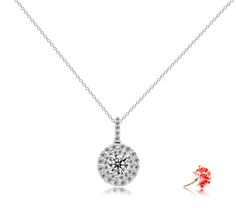 #Diamondpendant setting scintillating with 37 round brilliant diamonds 0.31 carat in 18k gold.  Can be crafted to set individual centre diamond carat size 0.30 to 3ct, white, rose, yellow, platinum (PC0032)  http://www.eclarity.com.sg/index.phpCategoryId=8&ViewAll=1&from=