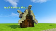 Learn how to build a small Fantasy House in Minecraft!! Fantasy house Fantasy Village houses