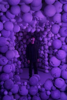 daniel arsham unearths cavernous colored rooms + sculptural artifacts at galerie perrotin Instalation Art, Contemporary Art, Modern Art, High Museum, New York Art, Purple Aesthetic, Purple Rain, Best Artist, American Artists