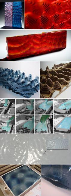 Kane Cali_glass sculpture, rippled layered glass, malta design week