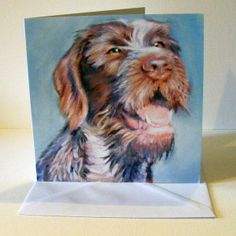 Dog notecards Pack 5 - German wirehaired pointer design £8