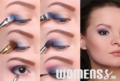 makeup in shades of blue