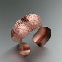 Texturized Anticlastic Cuff Copper Bracelet. Decidedly simple but undeniably alluring   http://www.ilovecopperjewelry.com/texturized-copper-cuff-bracelet.html  $135.00