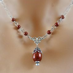 Swarovski Bordeaux Pearl Necklace by Crystalyte925 on Etsy, $28.00