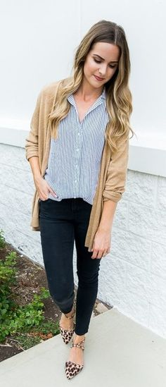 #fall #outfits brown cardigan