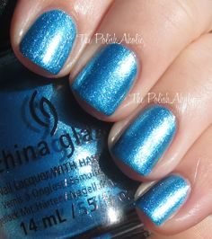 China Glaze's So Blue Without You is a wonderful, glitter packed blue that I've fallen completely in love with. It applies beautifully