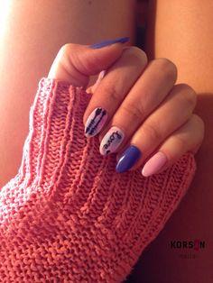 #gelnails #nails #nailsart #hybrid #manicure #blur #effect #pink #and #blue #indigo #love #arrows
