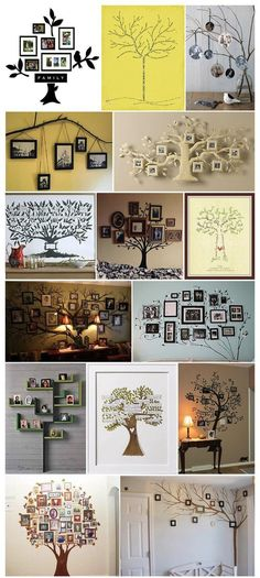 Ideas Family Tree Crafts Decor For 2019 Tree Crafts, Diy Crafts, Family Tree Wall, Family Trees, Family Tree Photo, Picture Tree, Photo Tree, Creation Deco, Ideias Diy