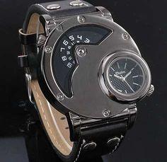 Relógio Militar Oulm Russo Preto Caixa Grande Frete Grats - R$ 84,90 - vou comprar essa bagaça.
