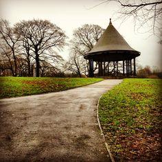 Bandstand in Brough Park, Leek, Staffordshire.