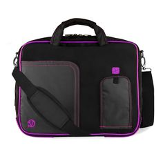 AmazonSmile: Purple VG Pindar Edition Durable Messenger Shoulder Bag Case for HP 17.3 inch Laptop Models 4730s / 8760w / 8770w / HP Pavilion dv7-7030us / g7-2010nr / dv7-7020us / dv7-7010us / HP Envy 17-3270NR / 17-3290NR + SumacLife TM Wisdom Courage Wristband: Computers & Accessories