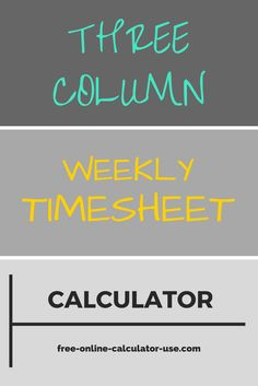 The SemiMonthly Timesheet Calculator On This Page Will Eliminate