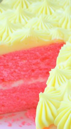 Pink Lemonade Cake From Scratch ~ This cake is so moist and full of lemony…