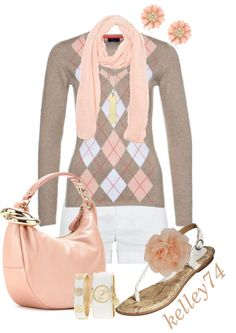 """Preppy Peach"" by kelley74 on Polyvore"