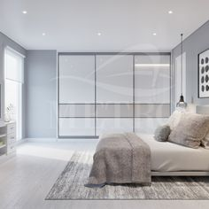 A bright and fresh design can make a #bedroom feel more roomy and comfortable