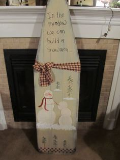 Christmas Decor: Hand Painted Vintage Ironing Board