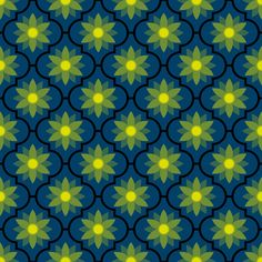 c-rhombus flower - firefly fabric by sef on Spoonflower - custom fabric