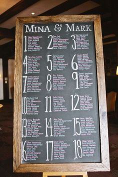 wedding chalkboard signs - seating chart