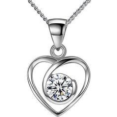 Anniversary Birthday Gift for Women Girls Wife Love Heart Pendant Necklace NEW #PendantNecklace #Pendant
