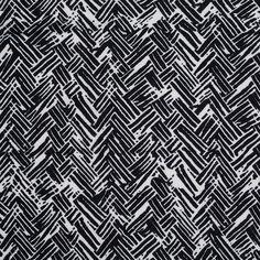 Black and White Tribal Print Cotton-Viscose Jersey - Jersey/Knits - Fashion Fabrics
