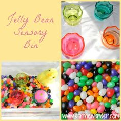 Jelly Bean Sensory Bin {Stir the Wonder}