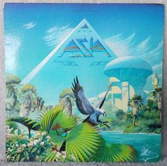 """ASIA 1983 ALPHA (GHS 4008) 12"""" Vinyl 33 LP Geffen Pop Progressive ROCK VG+ #RockProgressiveArtRock"""