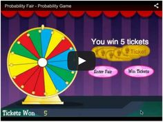 Welcome to Probability Fair. In this free online game, students will learn the practical application of the concept of probability by playing carnival games. The object is to win as many tickets as possible.