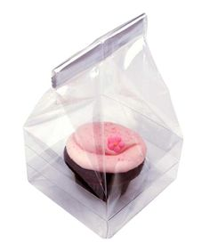 Clear Single Cupcake Bag - Set of 25