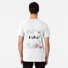 'Hello Hallo' Premium T-Shirt von herbert matouschek Vintage T-shirts, Designs, Comics, Mens Tops, T Shirt, Fashion, Round Collar Shirt, Supreme T Shirt, Moda