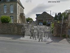 Then and now... Medics United: US and German medics work together.Regimental Aid Station # 2, Hospice, Sainte-Mère-Eglise, Normandy, June 1944 (© Ghosts of History, http://www.ghostsofhistory.co.uk/ )
