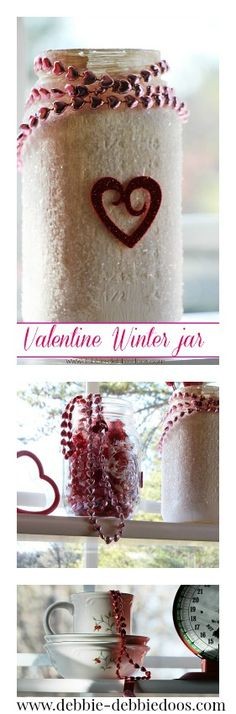Styling and decorating the kitchen for Valentine's day with dollar decor and some craftiness.