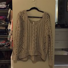 Free people sweater Worn once- great condition. Free People Sweaters