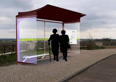 Solar panels installed on six bus shelters throughout the city will help offset energy use and save thousands of dollars. Bus Stop Design, Bus Stand, Bus Shelters, Shelter Design, Green Technology, Stop Light, Energy Use, Bus Station, Smart City