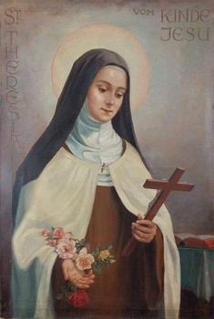 Catholic Religion, Catholic Art, Catholic Saints, Patron Saints, Sainte Therese De Lisieux, Ste Therese, Religious Images, Religious Art, St Theresa Of Avila